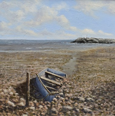 Abandoned boat oil painting by David Mather