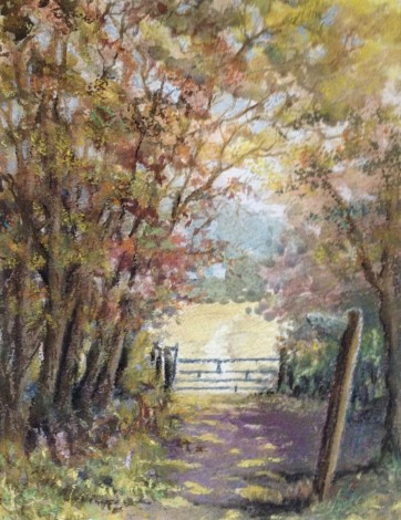 Public footpath mixed media by David Mather