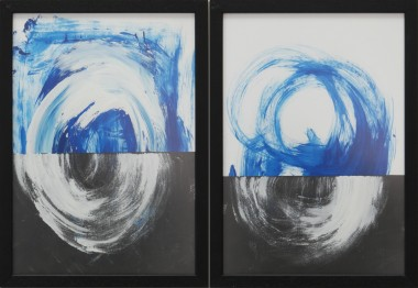 Dreamwave Black - Diptych - Incl Frame