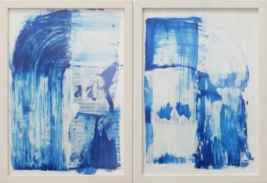 Dreamwave Blue - Diptych - Incl Frame