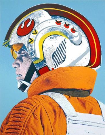 """Luke Skywalker original print """"I'm With The Pilots"""" by artist Robert McSpadyen"""