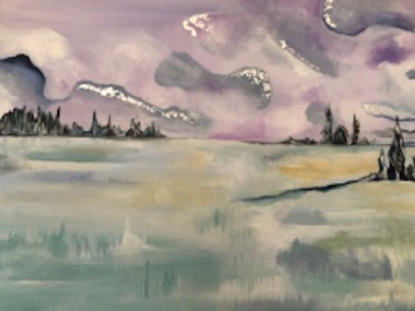WInter's Day, a contemporary and modern painting one-off original.