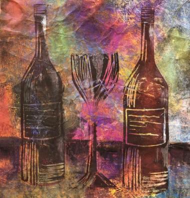 2 Bottles & 1 Large Glass of Wine