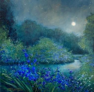 Bluebells Under The Moon