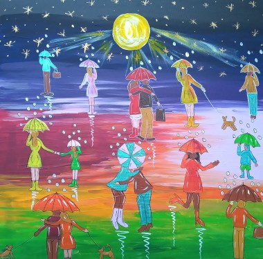 Umbrella painting
