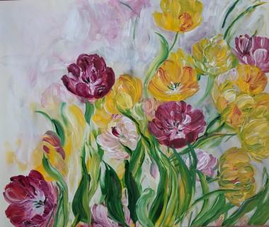 Colourful Tulip Bunch #2