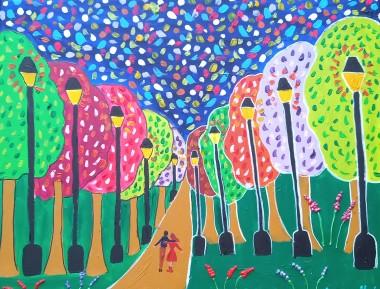 Fantasy Tree Painting