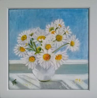 White Chamomiles in a Vase