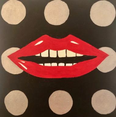 Dotty Red Lips