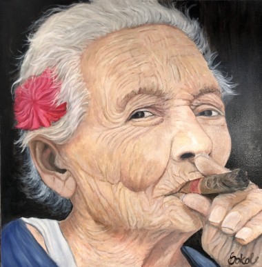 Lady with a cigar