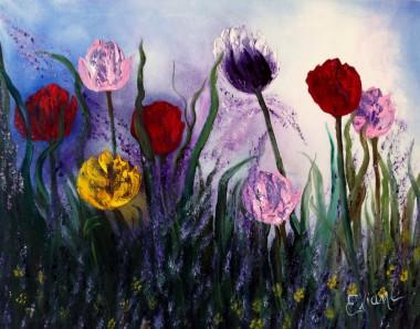 Tulips in the Field