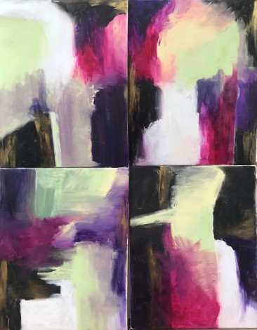 abstract love letters on canvas extra large