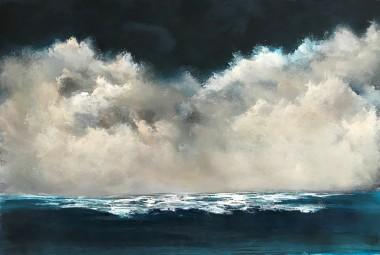 Seascape clouds waves ocean Cornwall surf Turner atmospheric