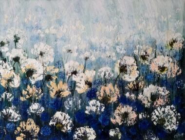 Cornflower and Cotton Flower Fields