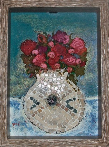 Roses in a Marble Vase.