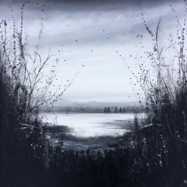 lake oil painting landscape