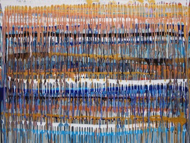 Modern drip style abstract painting