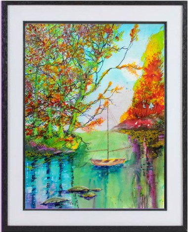 Autumn Voyage framed