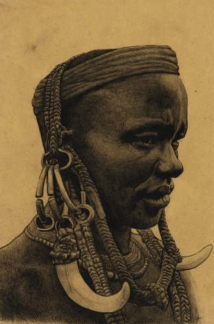 Mursi warrior, Ethiopia