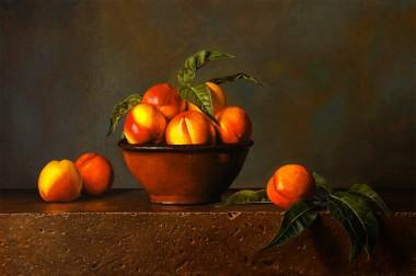 Nectarines and Terracotta Bowl