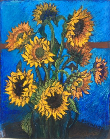 Sunflowers influenced by Van Gogh