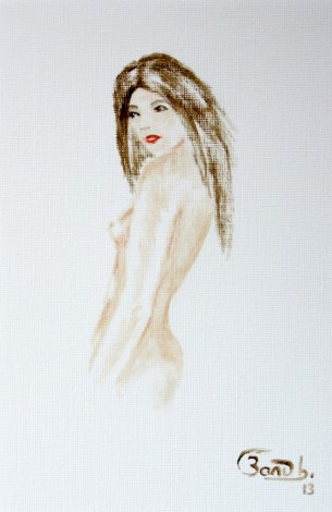 female nude, illustration