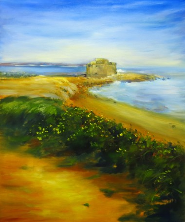 oil painting of Paphos by Maureen Greenwood