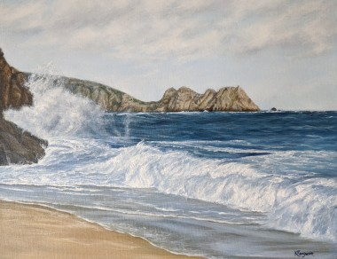 Porthcurno high tide