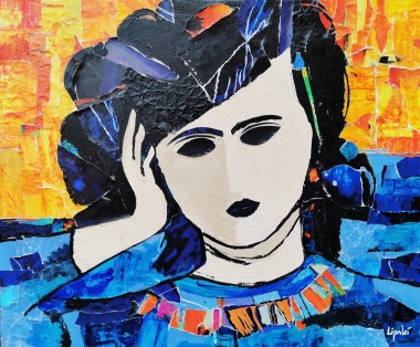 Woman's Portrait According to Manolo Valdés.