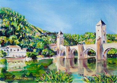 PONT VALENTRE REFLECTIONS painting for sale
