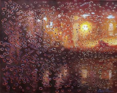 Rain Melody Abstract cityscape
