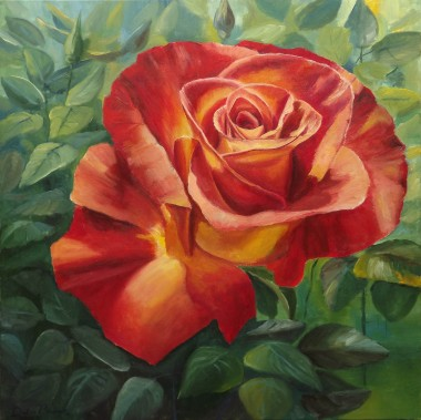 Floral Oil Painting Rose