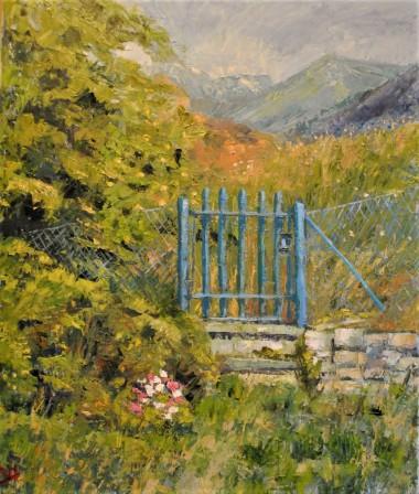 The blue gate