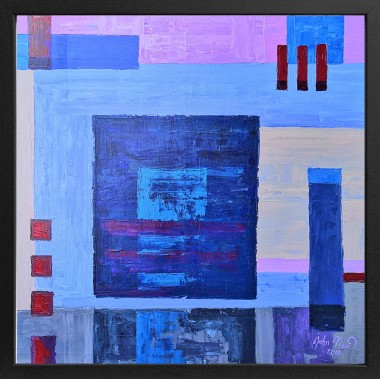 Abstraction with Blue Square