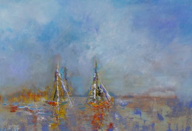 sail oil painting