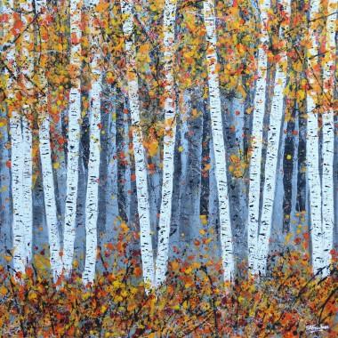 Autumn Silver Birch Wood