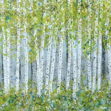 Spring Silver Birch Wood