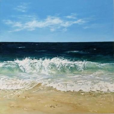 Shoreline. Acrylics seascape.