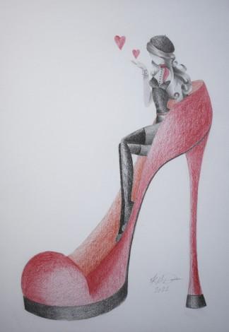 Fashion Victim Drawing