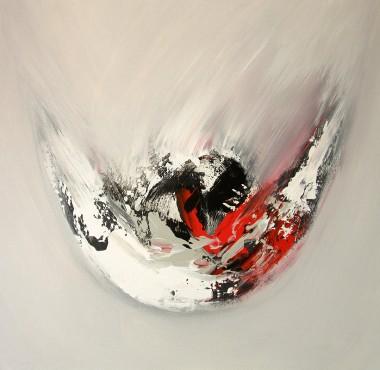 grey abstract, acrylic