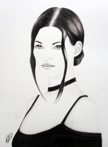 Kate Moss In Black