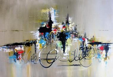 multi colour abstract, Acrylic