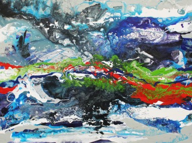 Abstract atmospheric painting