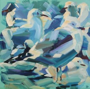Gulls on a Jetty