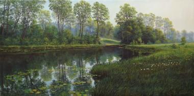 Summer River Landscape