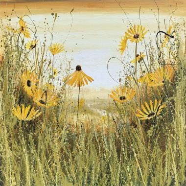 yellow landscape art