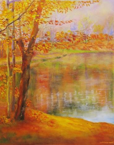 canvas painting of autum