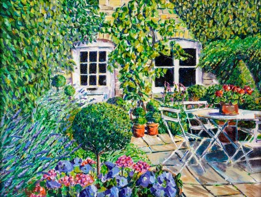 TOPIARY TERRACE painting for sale