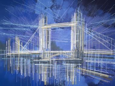 London - Tower Bridge On A Dark Blue Night
