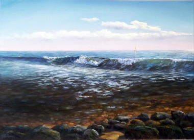Oil Painting Wave